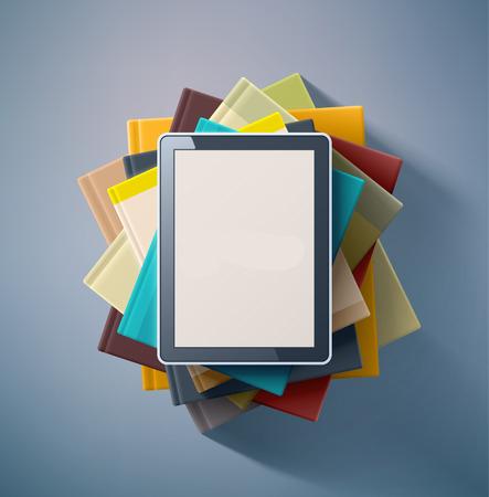 39941679 – e-book, stack of books