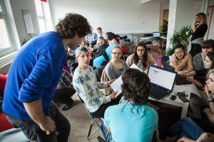EngAme Academy startup nap a Colabs Startup Centerben 2015. február28-án.
