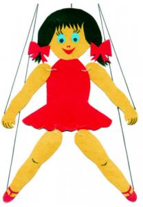 Marionett: forrás: Domány Mária (2001): A bábjáték varázsa – Első rész c. könyv